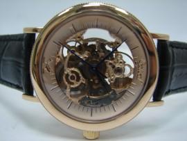 流當品拍賣 原裝 OGIVAL 愛其華 18K 玫瑰金 雙簍空 自動 男錶
