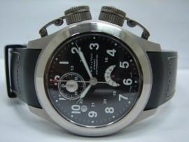 流當品拍賣 原裝 HAMILTON 漢米頓 海軍蛙人鈦合金雙大錶冠潛水機械錶 計時 9成新