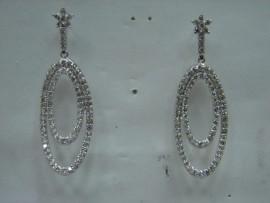 流當品拍賣 造型 3克拉 K金 鑽石 耳環