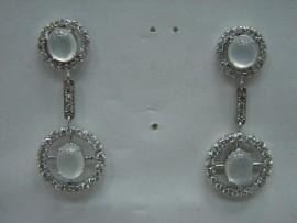 玻璃種 A貨 翡翠 鑽石 K金 耳環