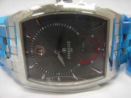 流當品拍賣 全新品 原裝 PERRELET 不銹鋼 三針 動力儲存 後簍空 男錶